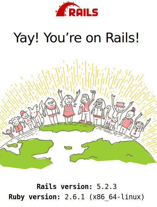 Trang mặc định của Rails