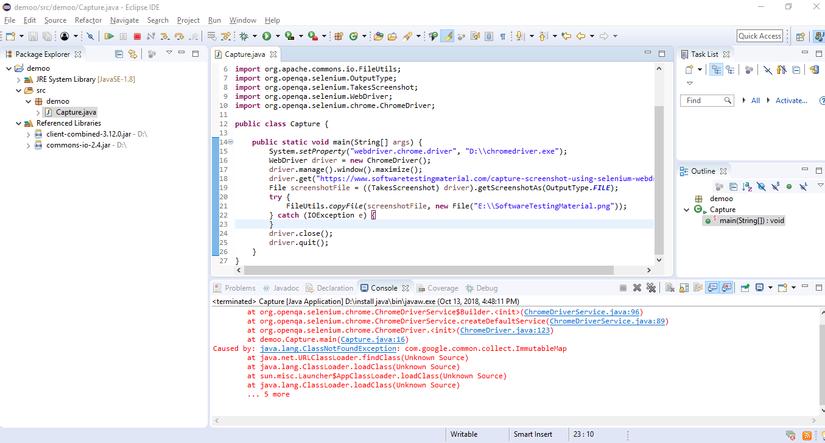 [Selenium Webdriver] Capture Screenshot With Example.
