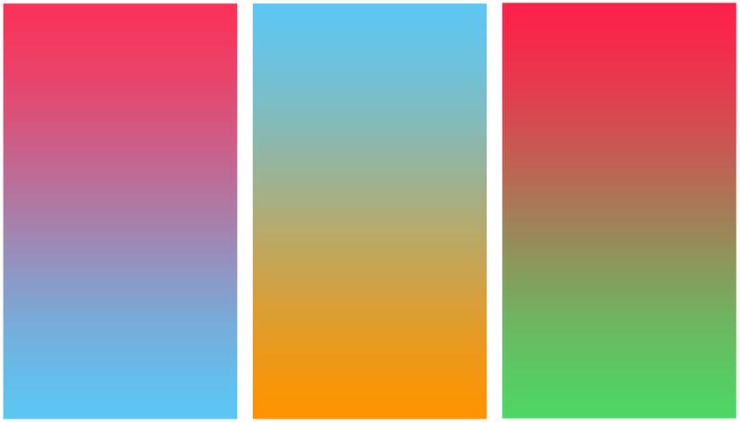 Những cách phối hợp màu Gradient mà bạn không nên sử dụng