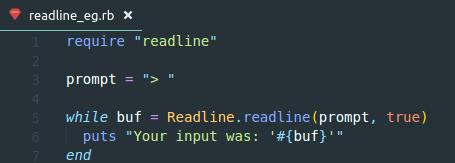 readline-ruby