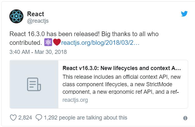 Trên tay React v16.3.0