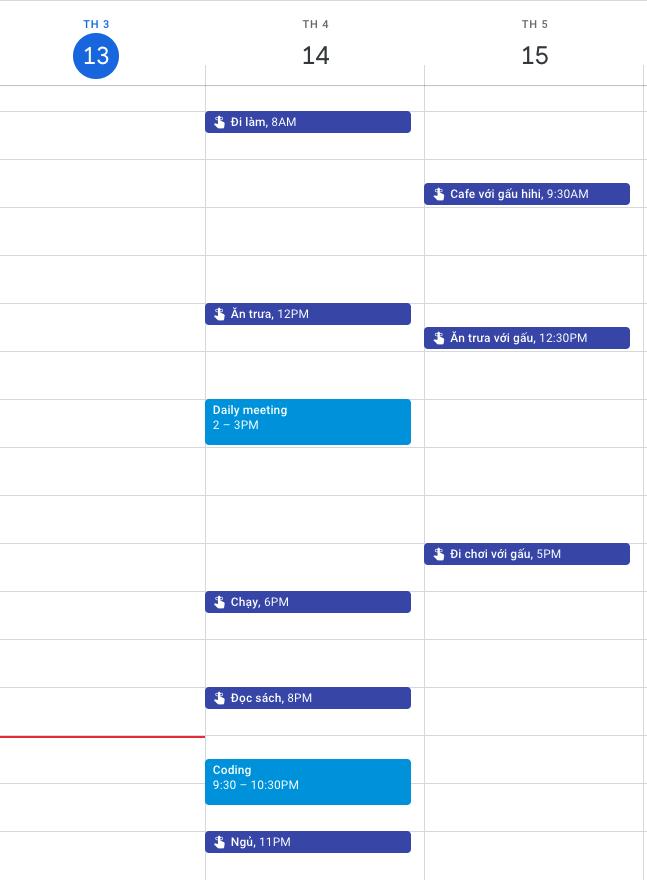 Calendar của mình