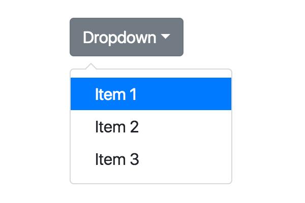 dropdown-menu bootstrap 4