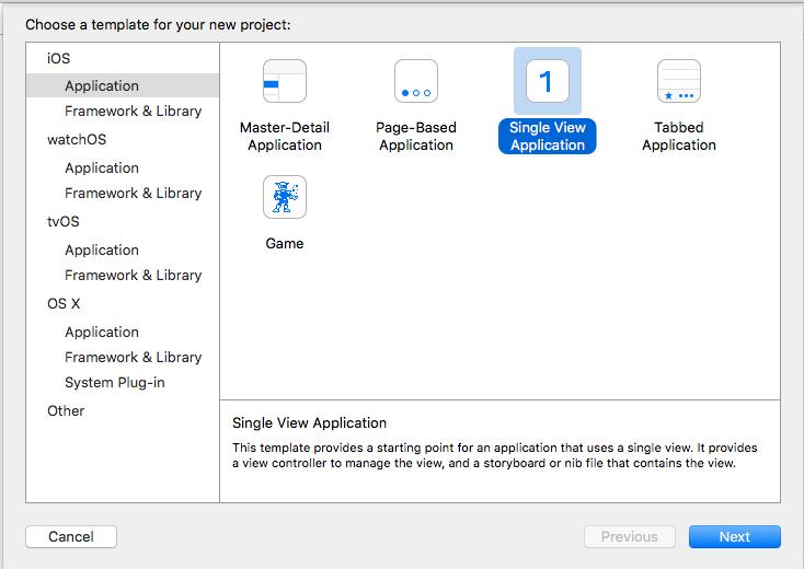 Create a Single View Application