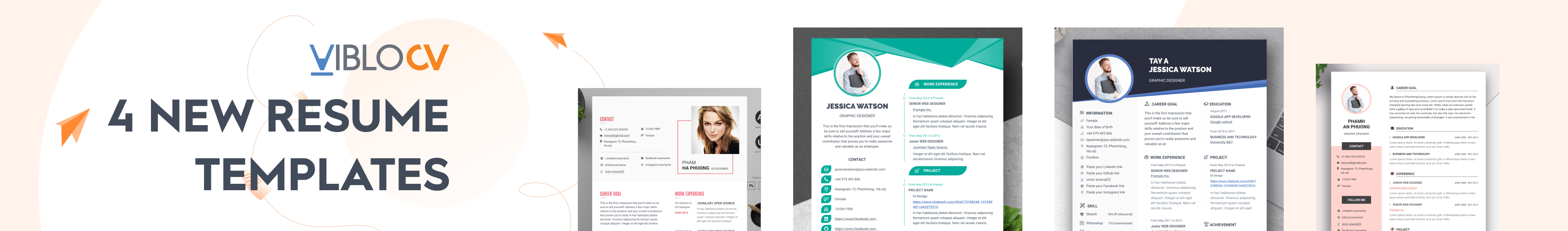Viblo CV - New resume templates